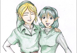 Link and Saria - for Who-Stole-My-Name