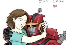 Bon Chan and Kaon as Mom and Child - for @l3onita_chan