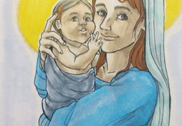 Mary and Baby Jesus - For Auntie Gina