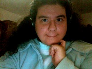 Me, Luana, with my headphones
